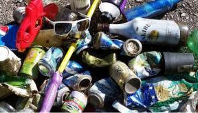 garbage from river clean-up