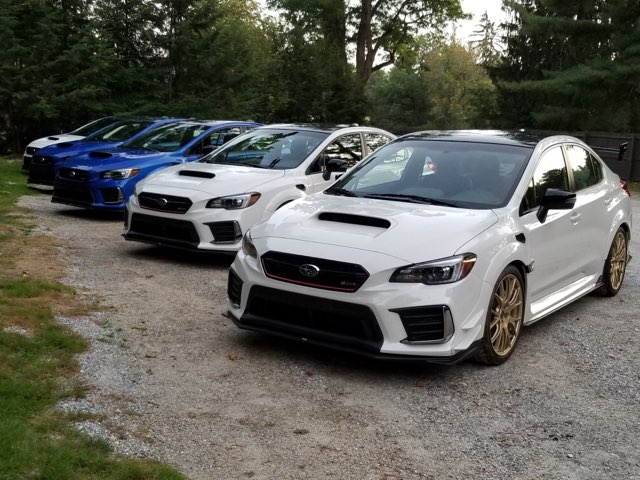 Subaru STI Line up  - Press event  OTT c