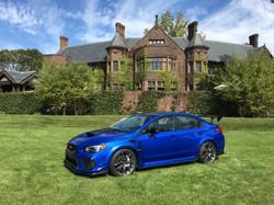 Electric Blue Subaru STI Press event mgm