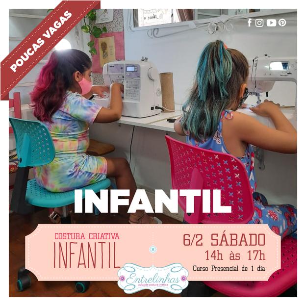 COSTURA CRIATIVA INFANTIL 6/FEV/21