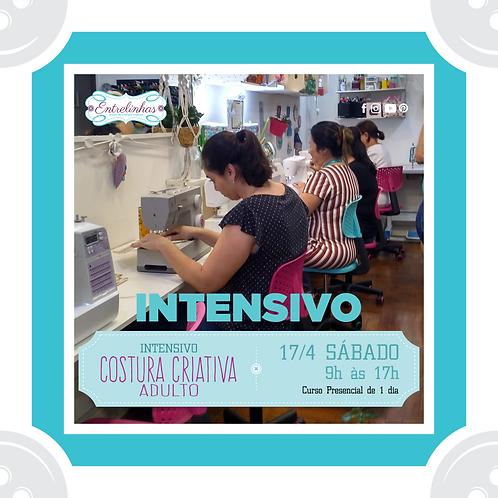 COSTURA CRIATIVA INTENSIVO INICIANTE ADULTO - 17/ABRIL