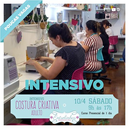 COSTURA CRIATIVA INTENSIVO ADULTO - 10/ABRIL