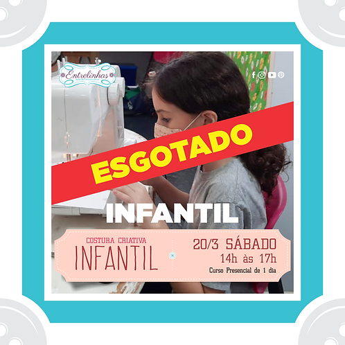 COSTURA CRIATIVA INFANTIL - 20/MARÇO