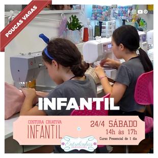COSTURA CRIATIVA INFANTIL 24/ABRIL