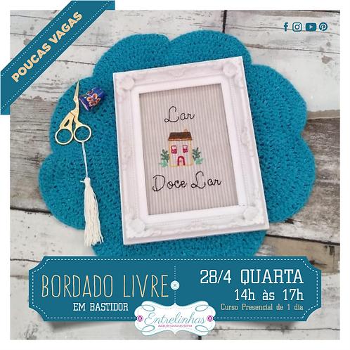 CURSO DE BORDADO LIVRE EM BASTIDOR - 28/ABRIL