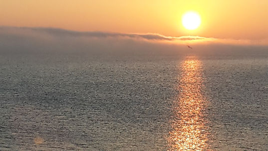 Sunset over sea Llandudno