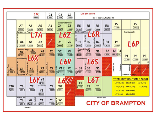 Brampton Delivery Map