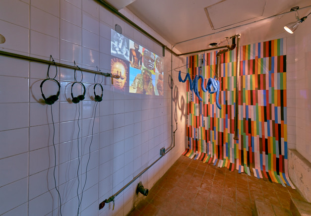 Installation view of Intersecting Imaginaries, curated by the 2015 NLE Lab. Photo: Tom Powel Imaging. Courtesy of No Longer Empty