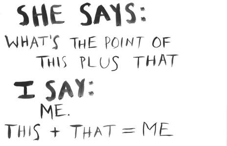 she says/i say