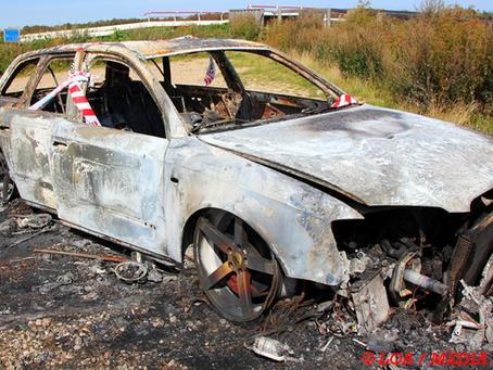 Audi S4 brændt af ved Skuderløse natten til fredag.