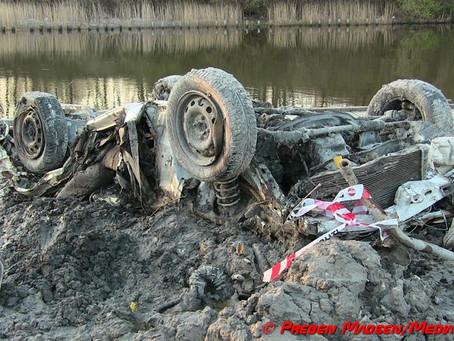 Bilvrag fundet under uddybning af kanalen i Næstved.
