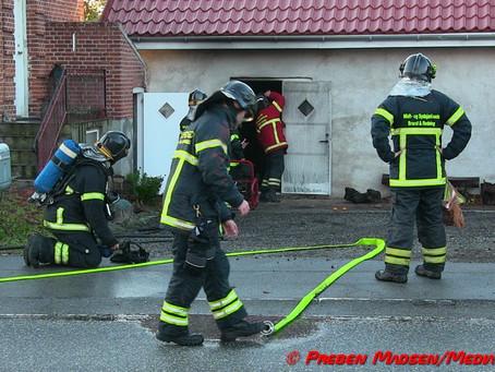 Mindre værksted brændt i Næstved.