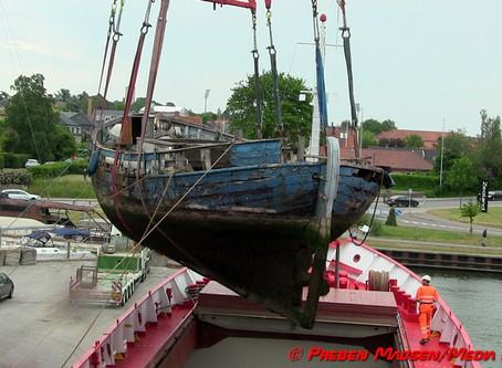 Galeasen FREM er nu fortid i Næstved Havn.