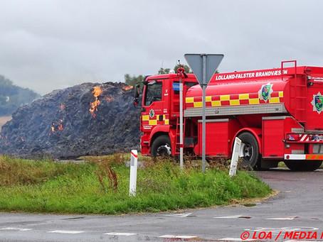 150 bigballer i brand på Nordfalster