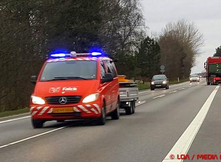 To færdselsuheld på Vestmotorvejen mandag eftermiddag