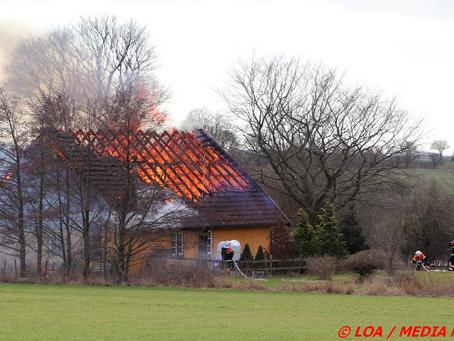 Landhus i brand ved Tappernøje