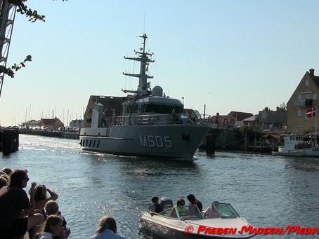 To af flådens fartøjer på besøg i Næstved.