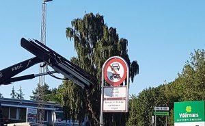 Skilte skulle forhindre gaderæs og vanvidskørsel på Ydernæs i Næstved, men nu er de væk.