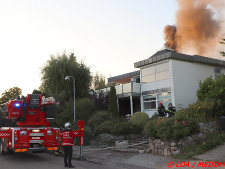 Villa i brand i Nyråd fredag aften