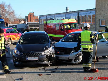 Færdselsuheld på Marskvej / Engvej mandag eftermiddag