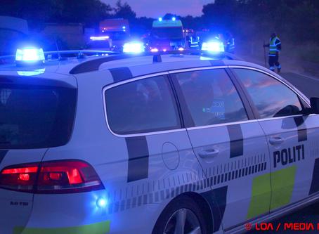 Sammenstød med fem biler på Landevejen ved Holmegaard