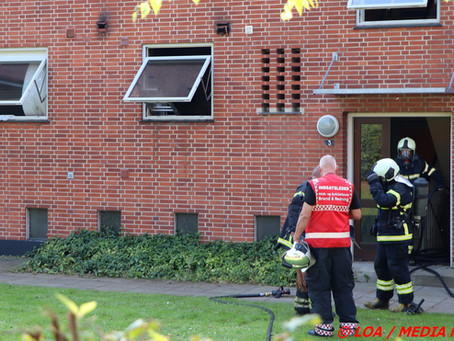 Brand i køkken på Parkvej i Faxe