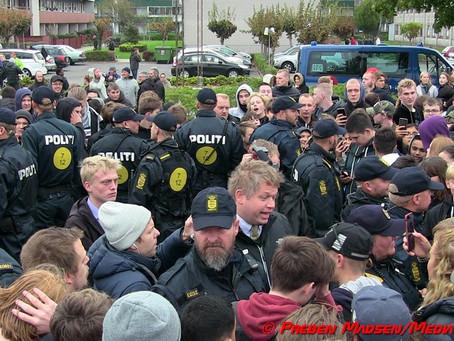 Alt roligt ved islamkritikkeren Rasmus Paludans besøg i Næstved.