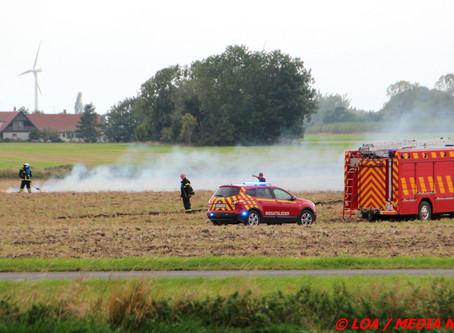 Mindre markbrand ved Lille Heddinge