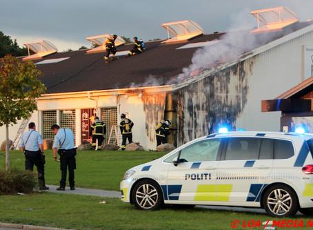 Brand brød ud hos Vestergaard Møbler på Merkurvej