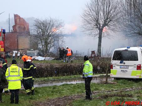 Ravnstrup gårdbutik brændt ned på Nordfalster