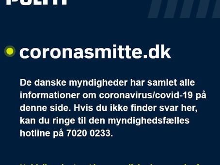 Følg de danske myndighedes samlede informationer om coronavirus/covid-19 - Opdateres løbende!