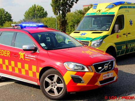Færdselsuheld ved BonBon land lørdag formiddag.