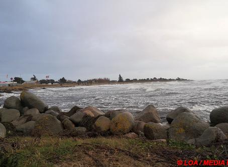 Enø i modvind på en kold decemberdag