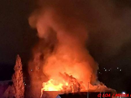 Hus nedbrændt ved Stillinge Strand