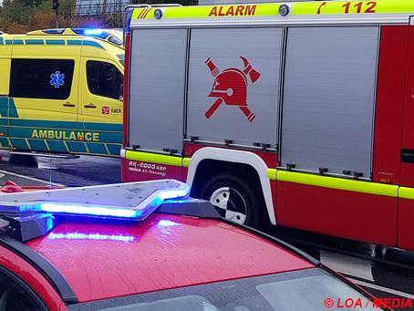 Færdselsuheld på Høm Møllevej i Skellerød ved Ringsted