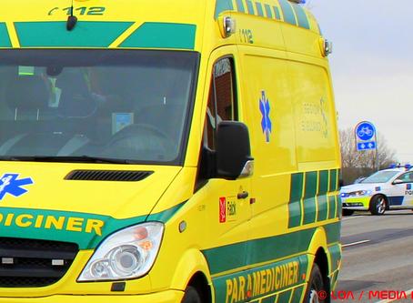 Færdselsuheld på rute 150 Sorøvej i Ringsted