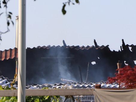 Hus kraftigt medtaget efter brand