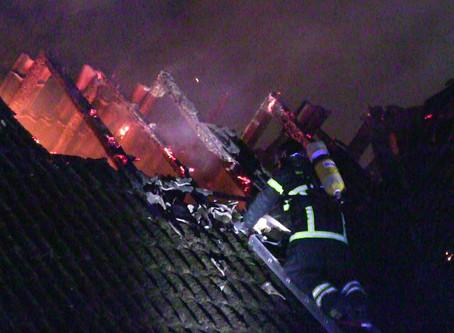 Nedlagt kro i Hyllinge er brændt.