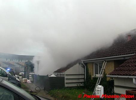 Rækkehus udbrændt på Kodrivervej i Næstved.