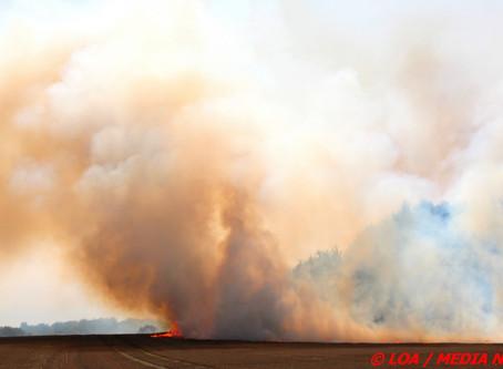 Stor markbrand lidt uden for Faxe