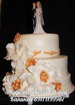 Торт с фигурками на свадьбу