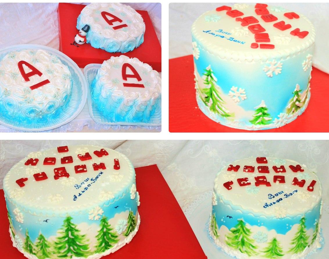 6! тортиков корпоративных новогодних