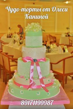 Мятный торт на свадьбу