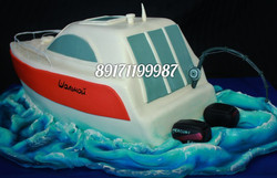 Торт с катером