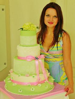 Нежный торт на свадьбу
