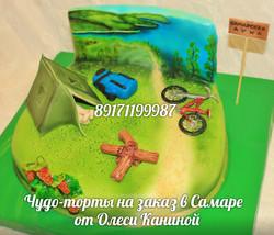Торт на природе