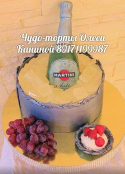 Торт с шампанским