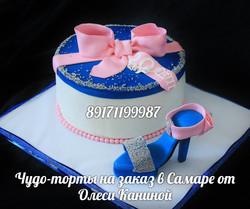 Торт с туфелькой