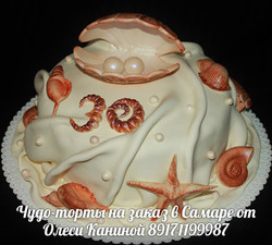 Морской торт на свадьбу
