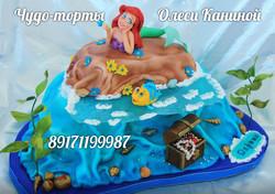 Торт с русалочкой Ариель